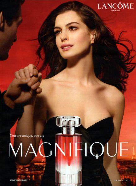Энн Хэтэуэй для Lancome Magnifique