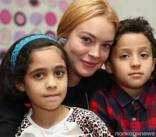 Линдси Лохан навестила сирийских беженцев в Турции