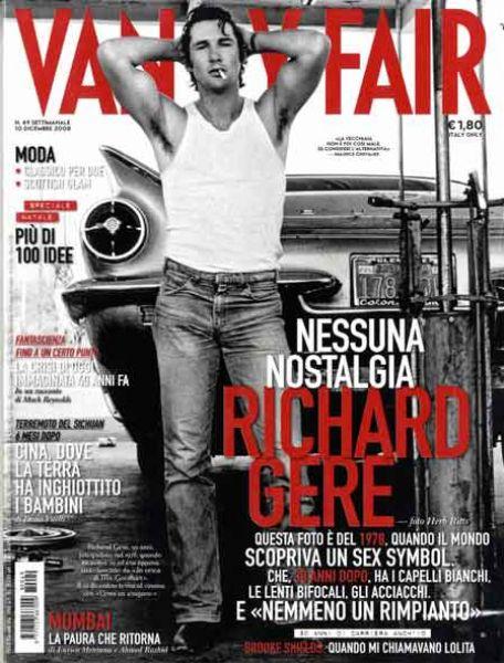 Ричард Гир в журнале Vanity Fair Италия. Декабрь 2008