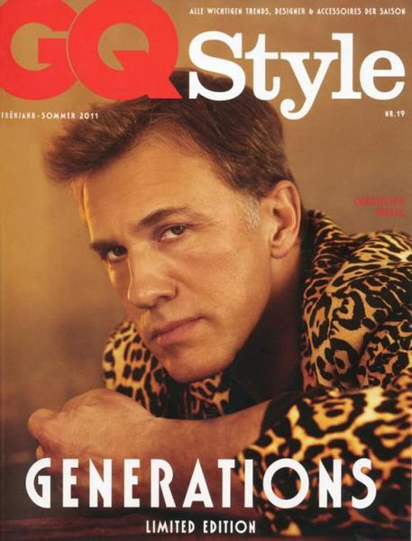 Оскароносный Кристоф Вальц в журнале GQ Style. Германия. Весна 2011
