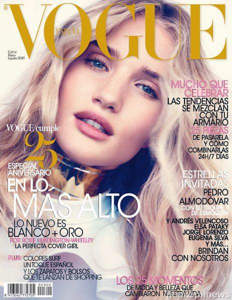 Роузи Хантингтон-Уайтли в журнале Vogue Испания. Март 2013