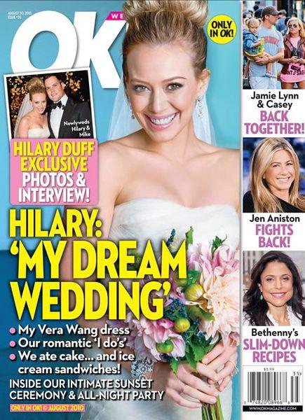 Свадьба Хилари Дафф не вызвала особого ажиотажа, как предполагал журнал OK!
