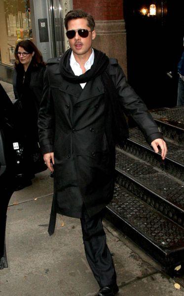 Брэд Питт в Нью-Йорке
