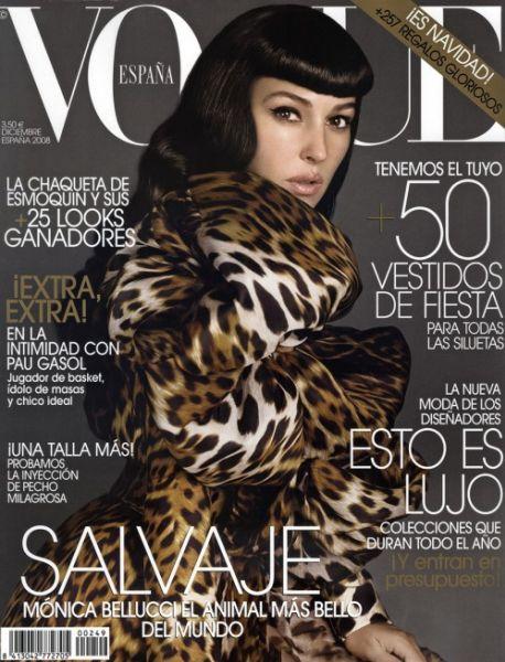 Моника Беллуччи на обложке Испанского Vogue. Декабрь2008