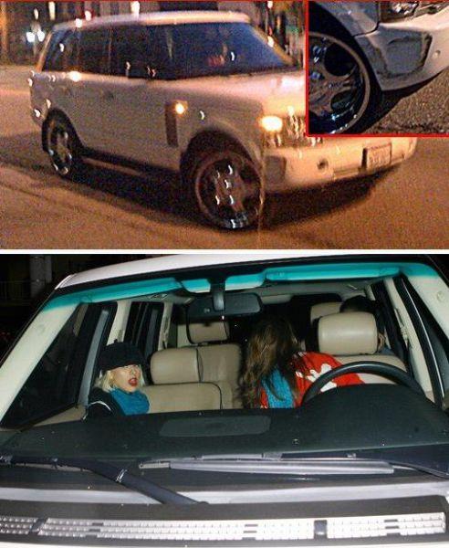 Кристина Агилера и небольшой инцидент на дороге