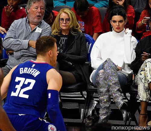 Фото: Кендалл Дженнер поддержала нового бойфренда на баскетбольном матче