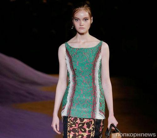 Модный показ новой коллекции Prada. Весна / лето 2015