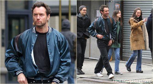 Фото: Джуд Лоу на съемках нового фильма в Нью-Йорке