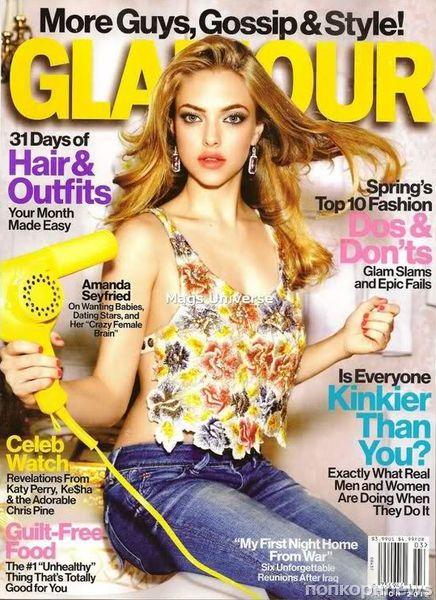 Аманда Сейфрид в журнале Glamour. Март 2012