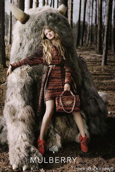 Осенне-зимняя рекламная кампания Mulberry