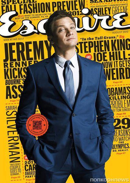 Джереми Реннер в журнале Esquire. Август 2012
