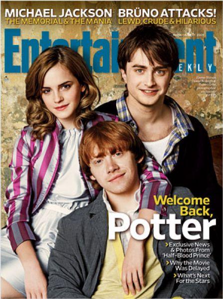 Актеры «Гарри Поттера» в журнале EW. Август 2009