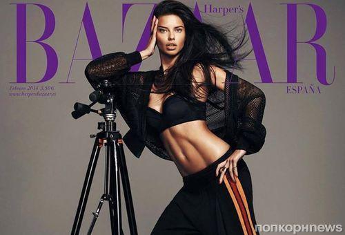Адриана Лима в журнале Harper's Bazaar. Испания. Февраль 2014