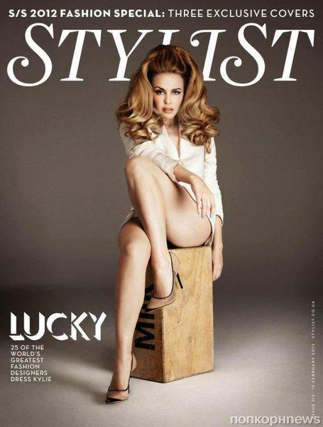Кайли Миноуг на обложке журнала Stylist. Весна / лето 2012
