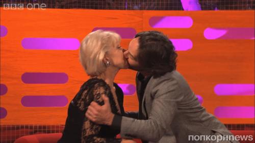Видео: Пол Радд поцеловал Хелен Миррен
