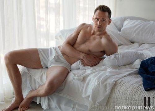 Том Хиддлстон разделся до нижнего белья в новой фотосессии