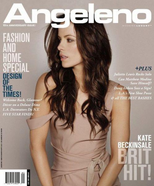 Кейт Бекинсейл в журнале Angeleno. Сентябрь 2009