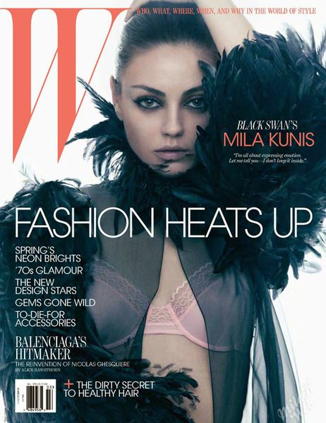 Мила Кунис в журнале W. Март 2011