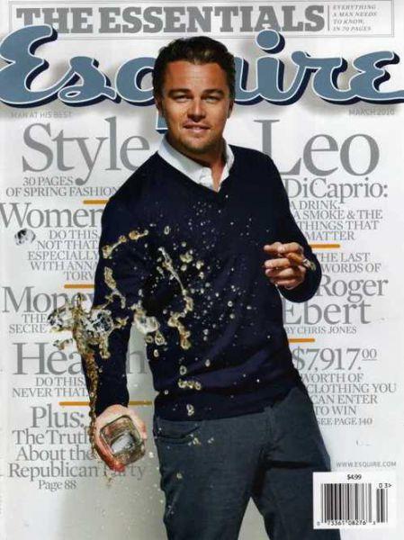 Леонардо ДиКаприо в журнале Esquire. Март 2010