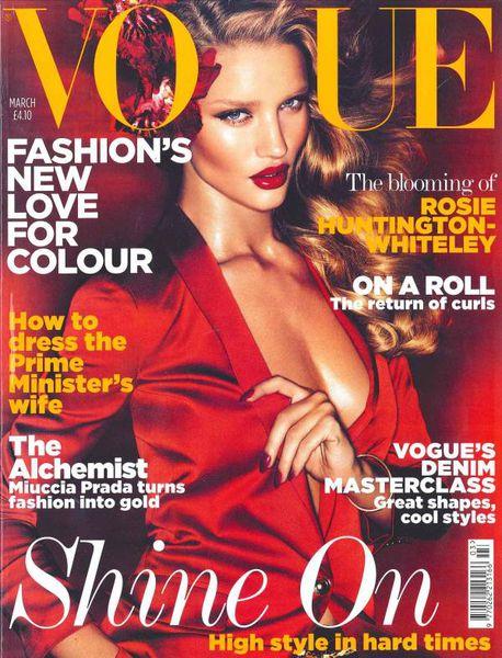 Роузи Хантингтон-Уайтли в журнале Vogue UK. Март 2011