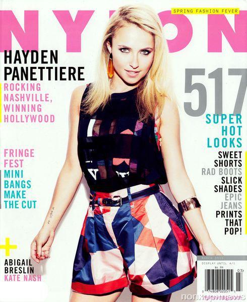 Хейден Панеттьер в журнале Nylon. Март 2013