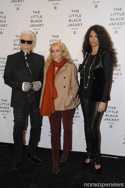 Звезды на открытии выставки Chanel The Little Black Jacket в Милане