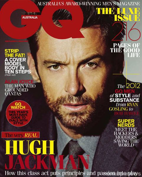 Хью Джекман в журнале GQ Австралия. Апрель / май 2012