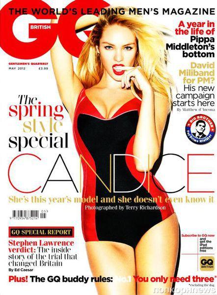 Кэндис Свэйнпоул в журнале GQ Великобритания. Май 2012