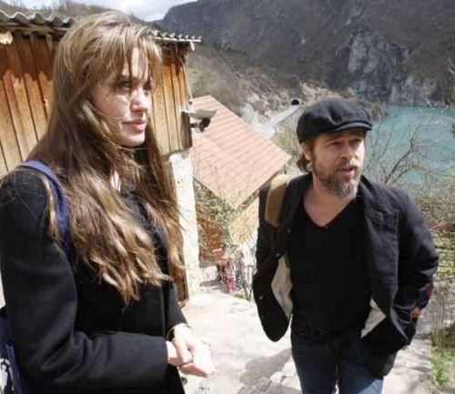 Анджелина Джоли и Брэд Питт в Боснии
