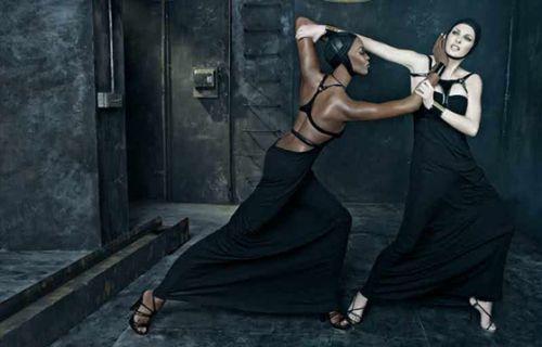 Наоми Кэмпбелл и Линда Евангелиста для рекламы  Dsquared² Весна 2009