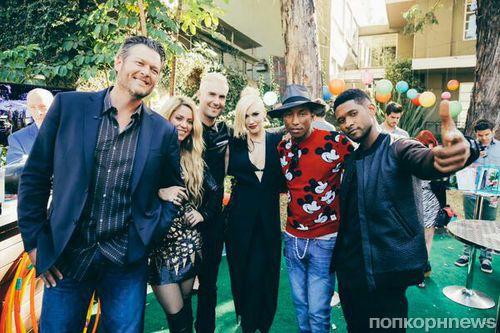 Видео: Фаррелл Уильямс и Гвен Стефани на шоу The Voice