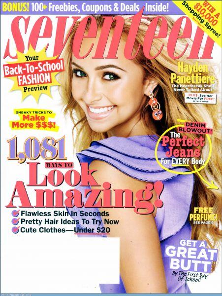 Хайден Панеттьери в журналах Lucky и Seventeen. Август 2009