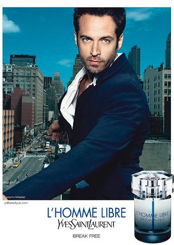 Бенджамин Мильпье в рекламе нового аромата от Yves Saint Laurent L'Homme Libre