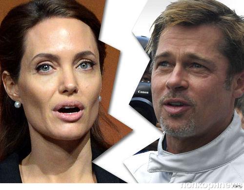 TMZ: Анджелина Джоли подала на развод с Брэдом Питтом