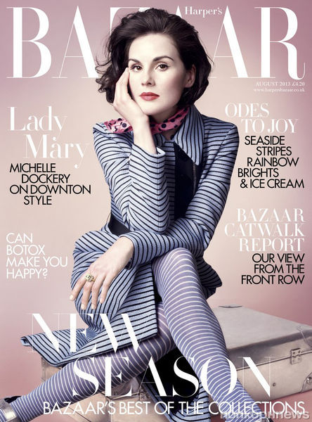 Мишель Докери в журнале Harper's Bazaar UK. Август 2013