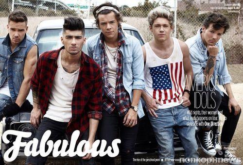 One Direction в журнале Fabulous. Август 2013