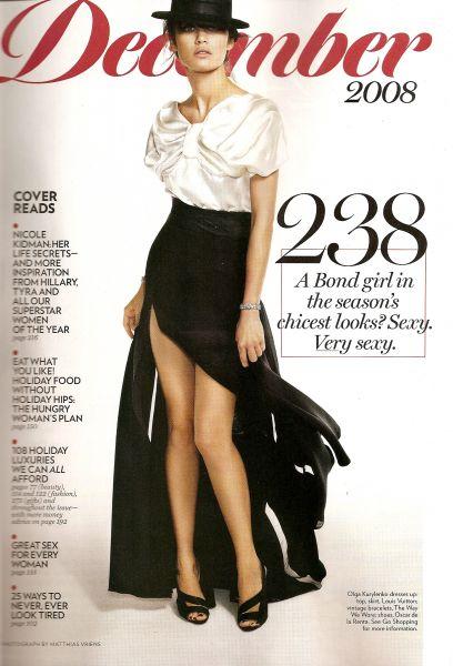 Ольга Куриленко в английском журнале Glamour. Декабрь 2008