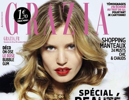 Джорджия Мэй Джаггер в журнале  Grazia Франция. Октябрь 2014