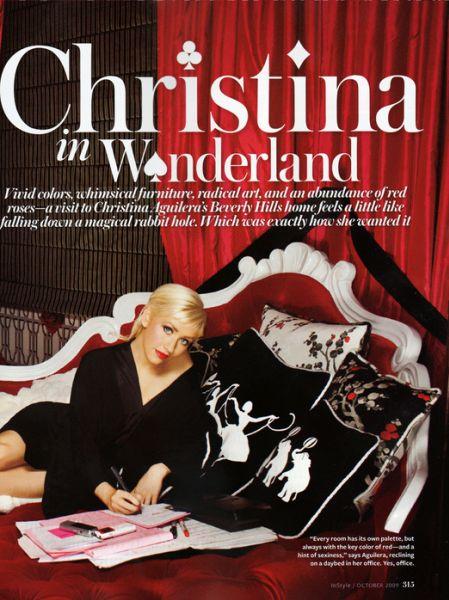 Кристина Агилера и ее дом в журнале InStyle. Октябрь 2009