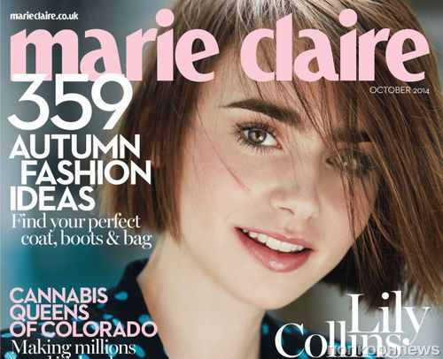 Лили Коллинз в журнале Marie Claire. Великобритания. Октябрь 2014