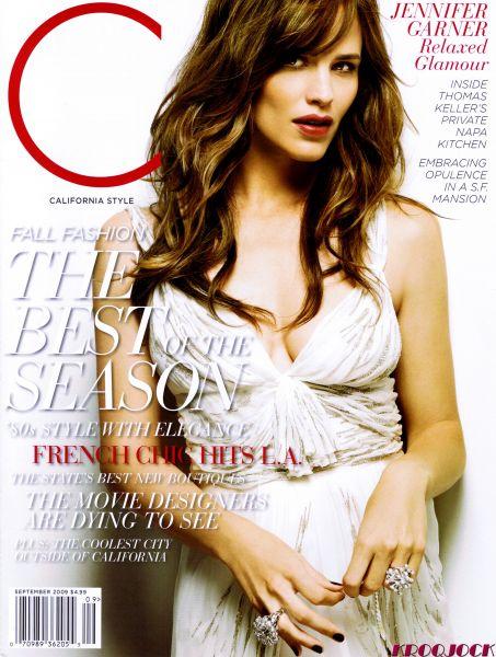 Дженнифер Гарнер в журнале California Style. Сентябрь 2009
