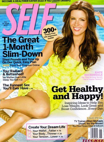 Кейт Бекинсэйл в журнале SELF. Январь 2009