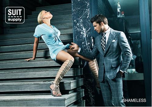 Провокационная реклама голландской марки мужской одежды Suit Supply