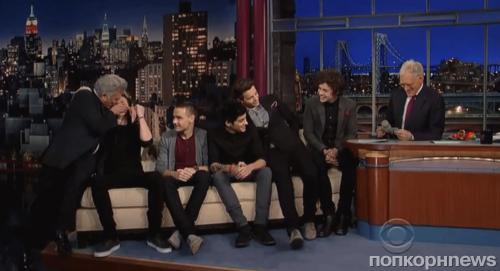 One Direction на шоу Дэвида Леттермана