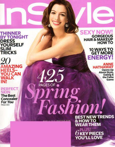 Энн Хэтэуэй в журнале Instyle USA. Март 2010