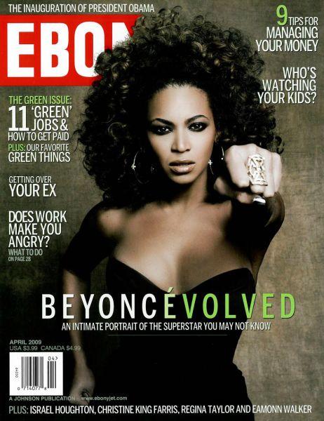Бейонсе Ноулз в журнале Ebony. Апрель 2009