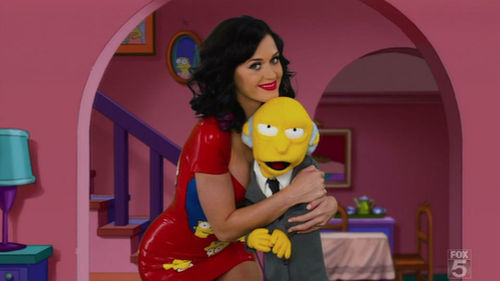 """Кэти Перри на шоу """"Симпсоны"""""""