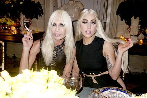 Донателла Версаче и Lady GaGa в Милане