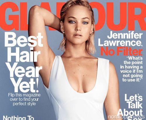 Фото: Дженнифер Лоуренс снялась в нижнем белье для Glamour, февраль 2016