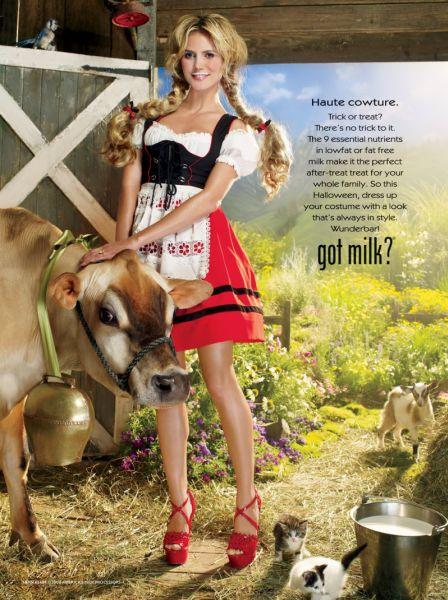 Хайди Клум в рекламе Got milk